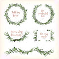 Eucalyptus Leaves circle round Green leaf Wreath berry branch be