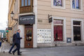 Euphoria club poznan poland september entrance by a corner building in the city center Royalty Free Stock Photography