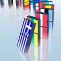 Eupopean crisis domino effect Royalty Free Stock Photos