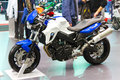 Eurasia moto bike expo bmw f r in on march in istanbul turkey Royalty Free Stock Image