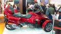 Eurasia moto bike expo istanbul turkey february can am spyder in in istanbul center Royalty Free Stock Image