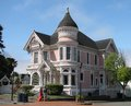 EUREKA, CA - JULY 23, 2017: The Pink Lady, a historic Victorian home, is a popular tourist destination.