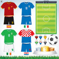 Euro 2012 Group C Stock Image