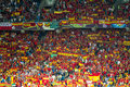 EURO 2012, spanish fans Stock Images