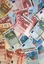 Euro background Stock Photos