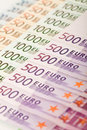 Euro banknote series Stock Image