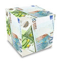 Euro banknotes cube concept Stock Photos