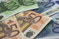 Euro banknotes detail of some Royalty Free Stock Photography