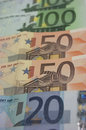 Euro banknotes detail of some Royalty Free Stock Image