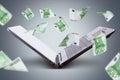 Euro Banknotes Flying around Laptop Royalty Free Stock Photo