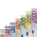 Euro Banknotes graph success topic Royalty Free Stock Photo