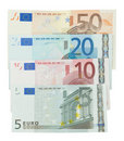 Euro banknotes isolated Stock Photography