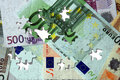 Euro banknotes puzzle Royalty Free Stock Photo