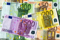 Euro banknotes real texture background in high resolution Royalty Free Stock Photography