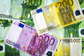Euro banknotes real texture background in high resolution Stock Images