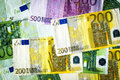 Euro banknotes real texture background in high resolution Stock Photo