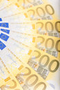 Euro banknotes spread over the floor european currency Stock Image