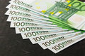 Euro banknotes stocked Royalty Free Stock Image