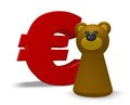 Euro and bear symbol character d illustration Stock Image