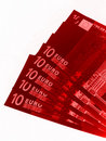 Euro billets de banque rouges Photo stock