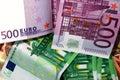 Euro bills Royalty Free Stock Photo