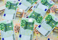 100 and 50 euro bills close up Royalty Free Stock Photo
