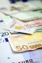 Euro bills & Credit card 1 Royalty Free Stock Photo