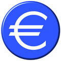 Euro Button Royalty Free Stock Photo
