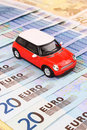 Euro Car Costs Stock Images