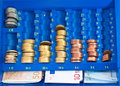 Euro in a cash box Royalty Free Stock Photo