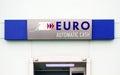 Euro cash machine sign automatic Royalty Free Stock Image