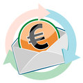 Euro cash money in an envelope Stock Photo