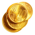 Euro cents Stock Image