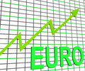 Euro chart graph shows increasing european economy showing Stock Photography