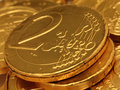Euro Chocolate Coins  Stock Image