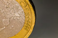 Euro coin macro, one euro Royalty Free Stock Photo
