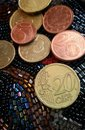 Euro coin money cent valuable metal Royalty Free Stock Image