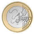 Euro coin with question mark Stock Photos
