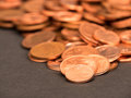 Euro coinage abstract Royalty Free Stock Photo