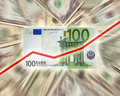 Euro contre le dollar Images libres de droits
