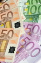 Euro currency background of european Royalty Free Stock Photo