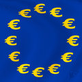 Euro currency flag computer generated image Royalty Free Stock Photography
