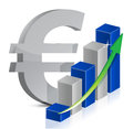 Euro currency icon style Royalty Free Stock Photo