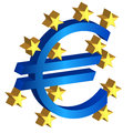 Euro currency sign on the white background vector Stock Images