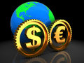 Euro and dollar system Royalty Free Stock Photos