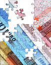 Euro economy concept Royalty Free Stock Images