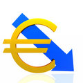 Euro fall Stock Image