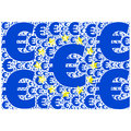 Euro flag concept illustration showing the european union made up of signs Royalty Free Stock Image