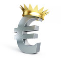 Euro gold grown Royalty Free Stock Image