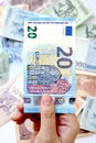 20 Euro on hand Royalty Free Stock Photo
